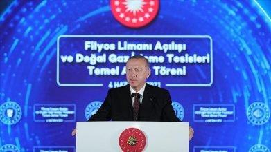 Cumhurbaşkanı Erdoğan Filyos'tan 135 milyar metreküp doğal gaz müjdesini verdi