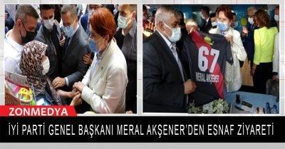 Zonguldak'a gelen İYİ Parti Genel Başkanı Meral Akşener'den esnaf ziyareti