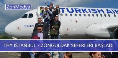 THY'nin İstanbul-Zonguldak iç hat seferleri başladı