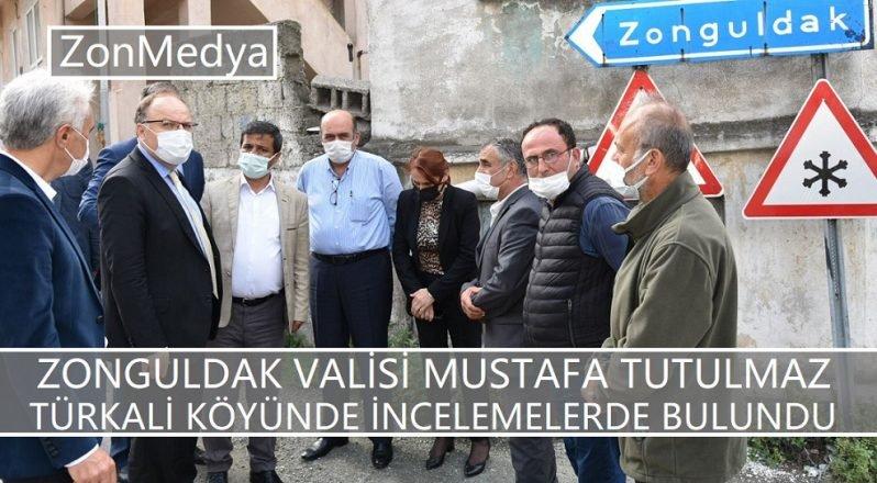 Zonguldak Valisi Mustafa Tutulmaz Türkali köyünde incelemelerde bulundu