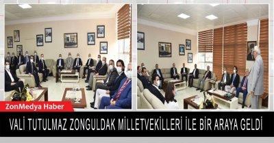 Vali Tutulmaz ve Zonguldak Milletvekilleri Kdz. Ereğli'ye yapılacak hizmetleri istişare ettiler.
