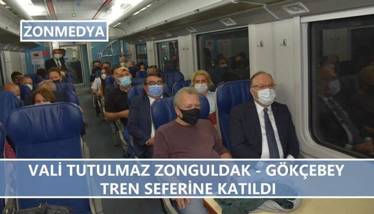 Vali Mustafa Tutulmaz Zonguldak-Gökçebey Tren Seferine Katıldı