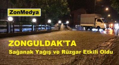 Zonguldak'ta sağanak ve şiddetli rüzgar etkili oldu
