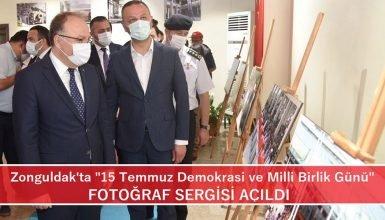 """Zonguldak'ta """"15 Temmuz Demokrasi ve Milli Birlik Günü"""" fotoğraf sergisi açıldı."""