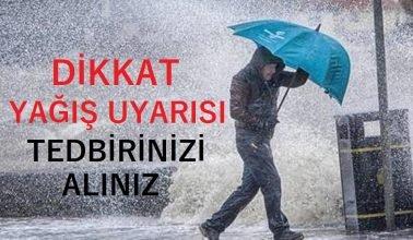 Zonguldak ve 2 il için kuvvetli yağış uyarısı