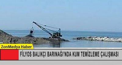 Filyos Balıkçı  Barınağı girişinde kum temizleme çalışması başladı.