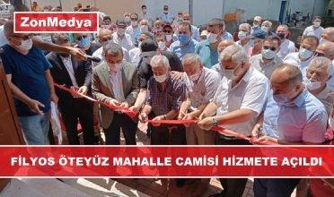 Filyos  Öteyüz  Mahalle Camisi Dualarla Hizmete Açıldı.