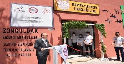 Zonguldak Endüstri Meslek Lisesi Elektrik-Elektronik Teknolojisi Alanının Açılışı Yapıldı
