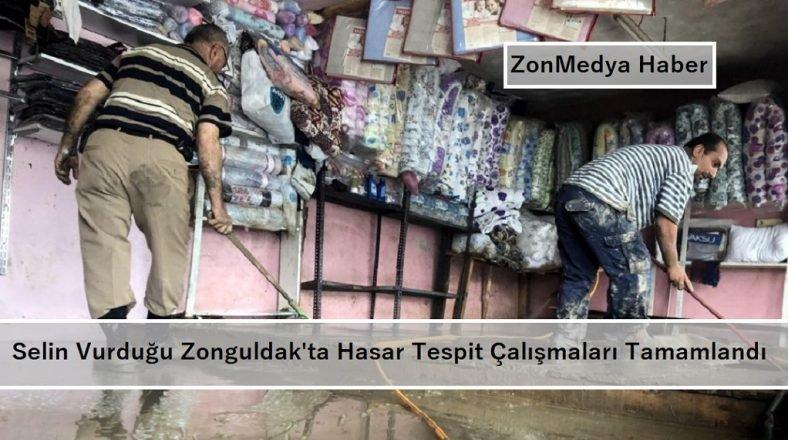Selin vurduğu Zonguldak'ta hasar tespit çalışmaları tamamlandı