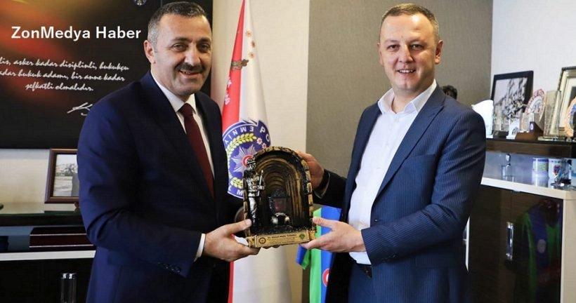 Zonguldak Bld. Başkanı  Alan, İl Emniyet Müdürü Ahmet Metin Turanlı'ya veda ziyaretinde bulundu.