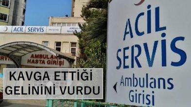 Zonguldak'ın Kilimli ilçesinde kayınpederi tarafından vurulan gelin hastaneye kaldırıldı