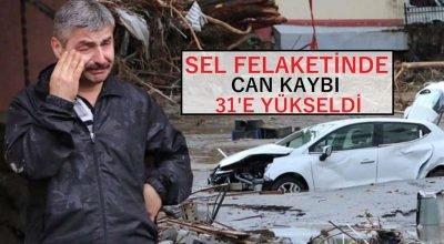 Sel felaketinde can kaybı 31'e yükseldi