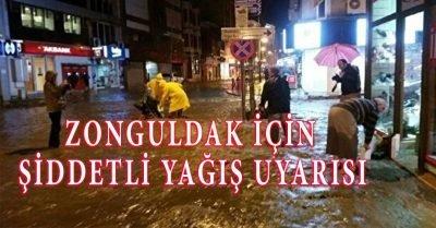 Zonguldak için şiddetli yağış uyarısı