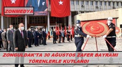 Zonguldak'ta 30 Ağustos Zafer Bayramı Törenlerle Kutlandı
