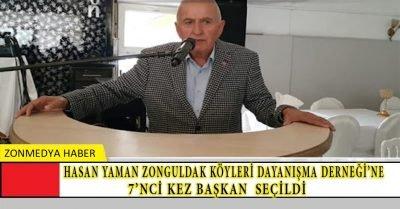 Hasan Yaman Zonguldak Köyleri Dayanışma Derneği'ne 7'nci kez başkan seçildi.