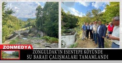 Zonguldak'ın Çaycuma ilçesine bağlı Esentepe köyünde su barajı çalışması tamamlandı.