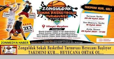 Zonguldak 3×3 sokak basketbolu turnuvası heyecanı başlıyor.