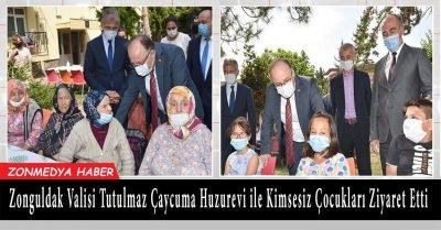 Zonguldak Valisi Tutulmaz Çaycuma huzurevini ve kimsesiz çocukları ziyaret etti