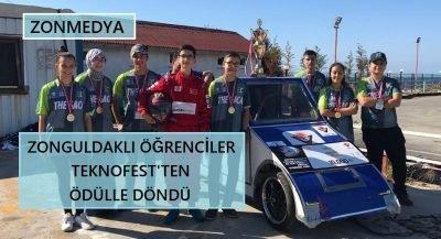 Zonguldaklı öğrenciler TEKNOFEST'ten ödülle döndü.