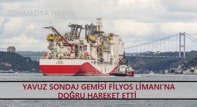 Yavuz sondaj gemisi Filyos Limanı'na doğru hareket etti.
